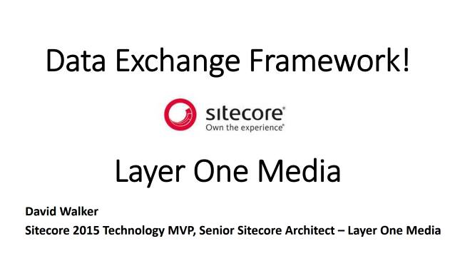 Data Exchange Framework - Layer One Media - Lunch and Learn - 04/18/2017