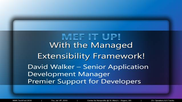MEF IT UP! With the Managed Extensbility Framework!