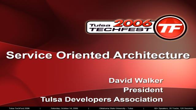 Service Oriented Architecture - Association for Systems Management - 10/04/2006